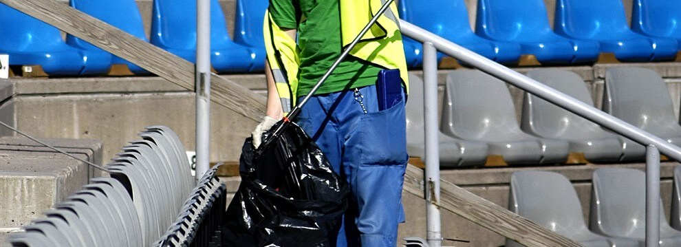 Event cleaning at a football ground