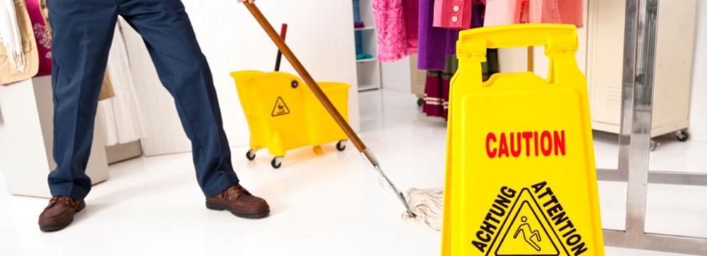 Retail cleaning sign