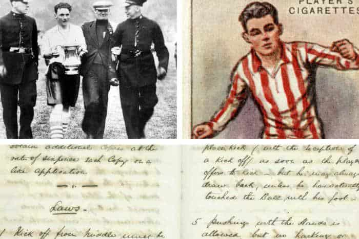FA cup in Sheffield in old text